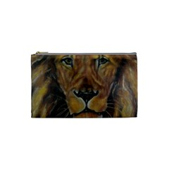 Cecil The African Lion Cosmetic Bag (small)  by timelessartoncanvas