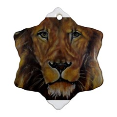 Cecil The African Lion Snowflake Ornament (2 Side) by timelessartoncanvas