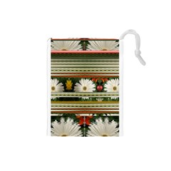 Pattern Flower  Drawstring Pouches (small)