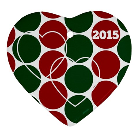 Ornament 2015 By Angela Anos   Ornament (heart)   7pc90razx7nb   Www Artscow Com Front