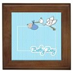 Baby Boy Framed Tile