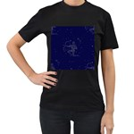 Sagittarius Stars Women s T-Shirt (Black) (Two Sided)