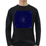 Sagittarius Stars Long Sleeve Dark T-Shirt