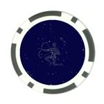 Sagittarius Stars Poker Chip Card Guard