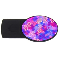 Pink And Purple Marble Waves Usb Flash Drive Oval (2 Gb)  by KirstenStar