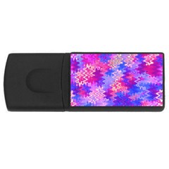 Pink and Purple Marble Waves USB Flash Drive Rectangular (1 GB)  by KirstenStar
