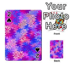 Pink And Purple Marble Waves Playing Cards 54 Designs  by KirstenStar