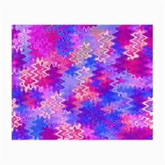 Pink And Purple Marble Waves Small Glasses Cloth (2 Side) by KirstenStar
