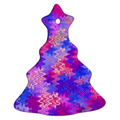 Pink And Purple Marble Waves Ornament (christmas Tree) by KirstenStar