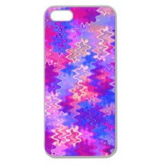 Pink And Purple Marble Waves Apple Seamless Iphone 5 Case (clear) by KirstenStar