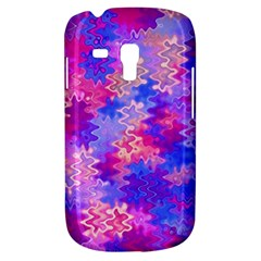 Pink And Purple Marble Waves Samsung Galaxy S3 Mini I8190 Hardshell Case by KirstenStar