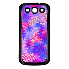 Pink And Purple Marble Waves Samsung Galaxy S3 Back Case (black) by KirstenStar