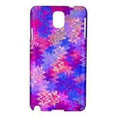 Pink And Purple Marble Waves Samsung Galaxy Note 3 N9005 Hardshell Case by KirstenStar