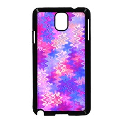 Pink And Purple Marble Waves Samsung Galaxy Note 3 Neo Hardshell Case (black) by KirstenStar