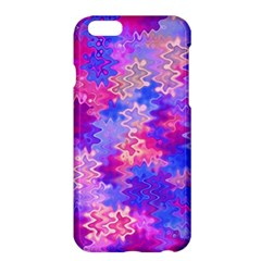 Pink And Purple Marble Waves Apple Iphone 6 Plus Hardshell Case by KirstenStar