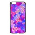 Pink and Purple Marble Waves Apple iPhone 6 Plus Black Enamel Case Front