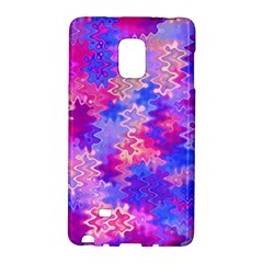 Pink And Purple Marble Waves Galaxy Note Edge by KirstenStar