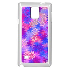 Pink And Purple Marble Waves Samsung Galaxy Note 4 Case (white) by KirstenStar