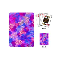 Pink And Purple Marble Waves Playing Cards (mini)  by KirstenStar