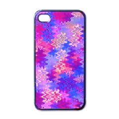 Pink And Purple Marble Waves Apple Iphone 4 Case (black) by KirstenStar
