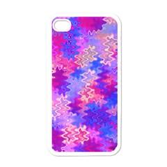 Pink And Purple Marble Waves Apple Iphone 4 Case (white) by KirstenStar