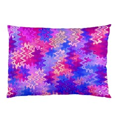 Pink And Purple Marble Waves Pillow Cases (two Sides) by KirstenStar