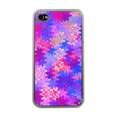 Pink And Purple Marble Waves Apple Iphone 4 Case (clear) by KirstenStar