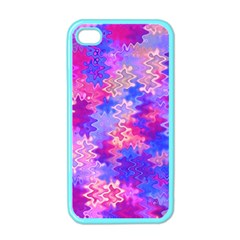 Pink And Purple Marble Waves Apple Iphone 4 Case (color)