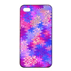 Pink And Purple Marble Waves Apple Iphone 4/4s Seamless Case (black) by KirstenStar