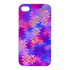 Pink And Purple Marble Waves Apple Iphone 4/4s Premium Hardshell Case by KirstenStar
