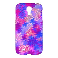 Pink And Purple Marble Waves Samsung Galaxy S4 I9500/i9505 Hardshell Case by KirstenStar