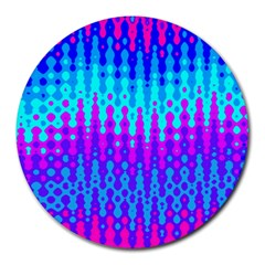 Melting Blues And Pinks Round Mousepads by KirstenStar