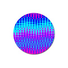 Melting Blues And Pinks Magnet 3  (round) by KirstenStar