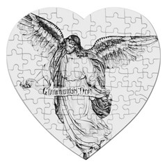 Angel Drawing Jigsaw Puzzle (Heart) by TailWags