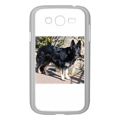 Black German Shepherd Full Samsung Galaxy Grand DUOS I9082 Case (White) by TailWags