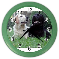2 Labs Color Wall Clocks by TailWags