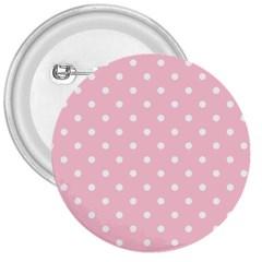 Pink Polka Dots 3  Buttons by LokisStuffnMore