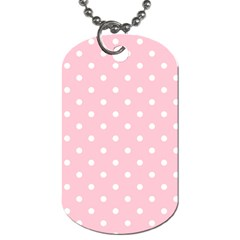 Pink Polka Dots Dog Tag (one Side) by LokisStuffnMore
