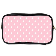 Pink Polka Dots Toiletries Bags by LokisStuffnMore