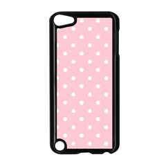 Pink Polka Dots Apple Ipod Touch 5 Case (black) by LokisStuffnMore