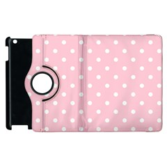 Pink Polka Dots Apple Ipad 2 Flip 360 Case by LokisStuffnMore