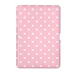 Pink Polka Dots Samsung Galaxy Tab 2 (10 1 ) P5100 Hardshell Case  by LokisStuffnMore
