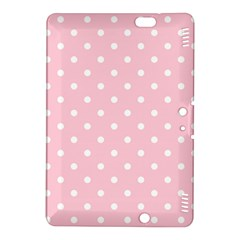 Pink Polka Dots Kindle Fire Hdx 8 9  Hardshell Case by LokisStuffnMore