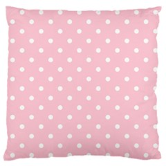 Pink Polka Dots Large Flano Cushion Cases (two Sides)  by LokisStuffnMore