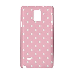 Pink Polka Dots Samsung Galaxy Note 4 Hardshell Case by LokisStuffnMore