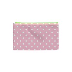 Pink Polka Dots Cosmetic Bag (xs) by LokisStuffnMore