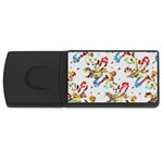 Colorful paint strokes USB Flash Drive Rectangular (4 GB) Front