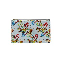 Colorful Paint Strokes Cosmetic Bag (small) by LalyLauraFLM
