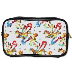Colorful Paint Strokes Toiletries Bag (one Side) by LalyLauraFLM