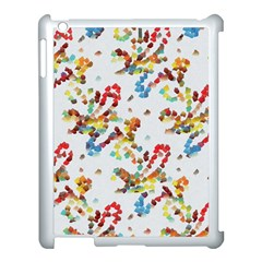Colorful Paint Strokes Apple Ipad 3/4 Case (white) by LalyLauraFLM